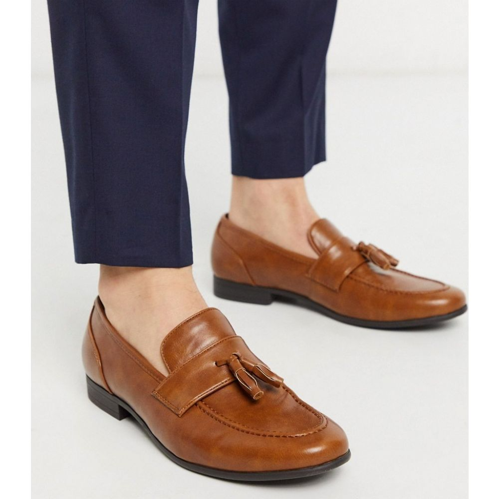 エイソス ASOS DESIGN メンズ ローファー シューズ・靴【loafers in tan faux leather with tassel】Tan
