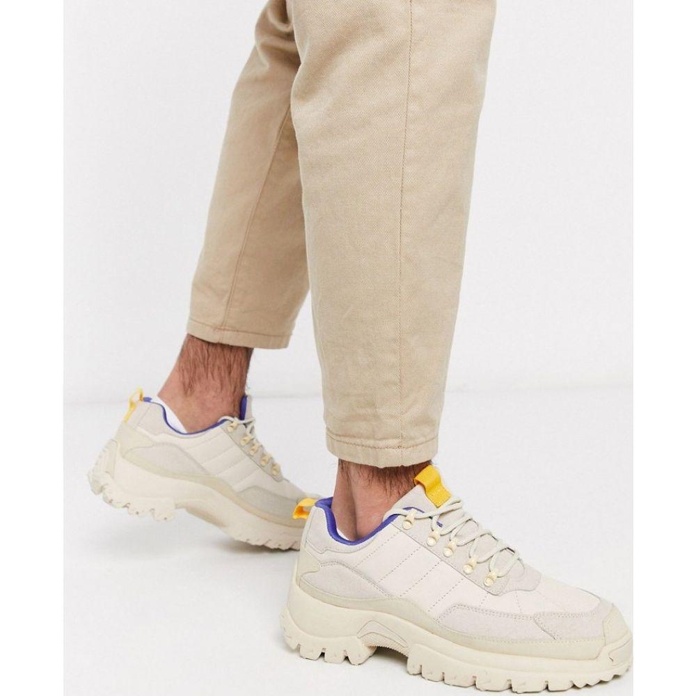 エイソス ASOS DESIGN メンズ ハイキング・登山 シューズ・靴【hiker trainers in stone with chunky sole】Stone