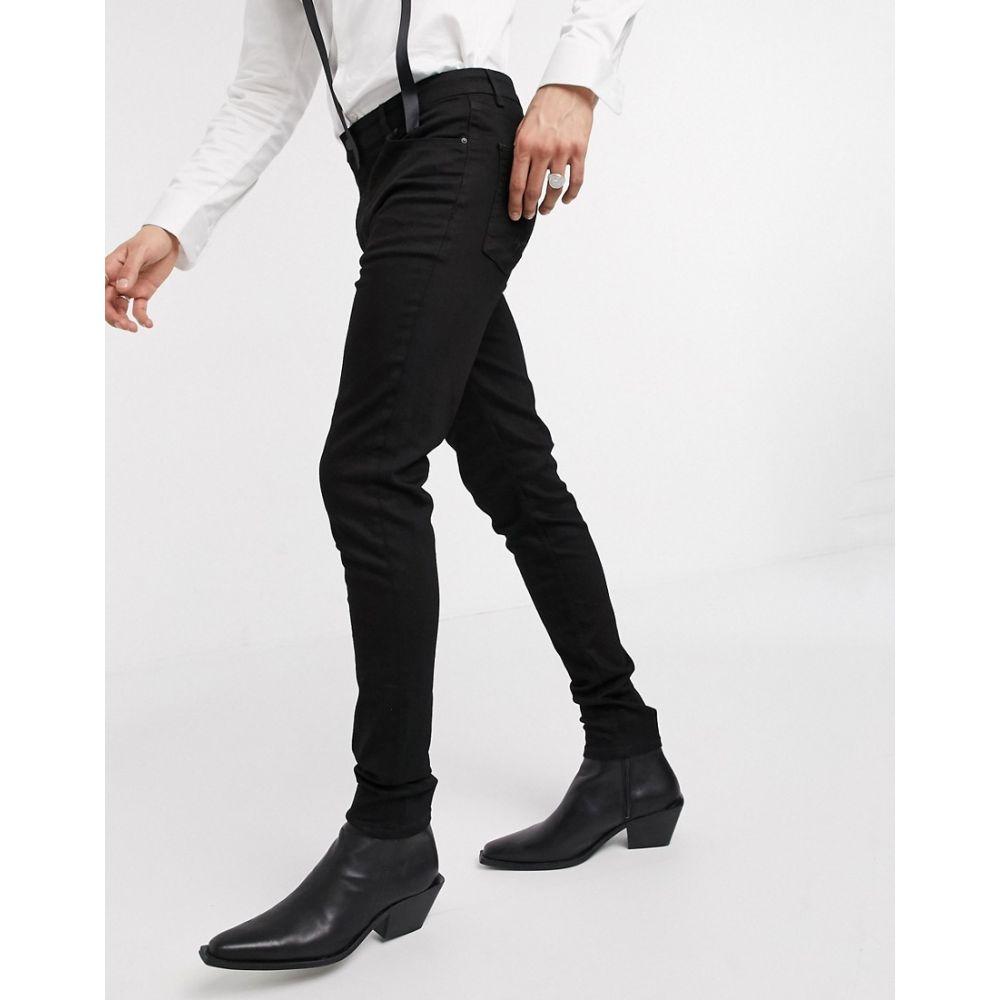 エイソス ASOS DESIGN メンズ ジーンズ・デニム ボトムス・パンツ【high waist skinny jeans in black】Black