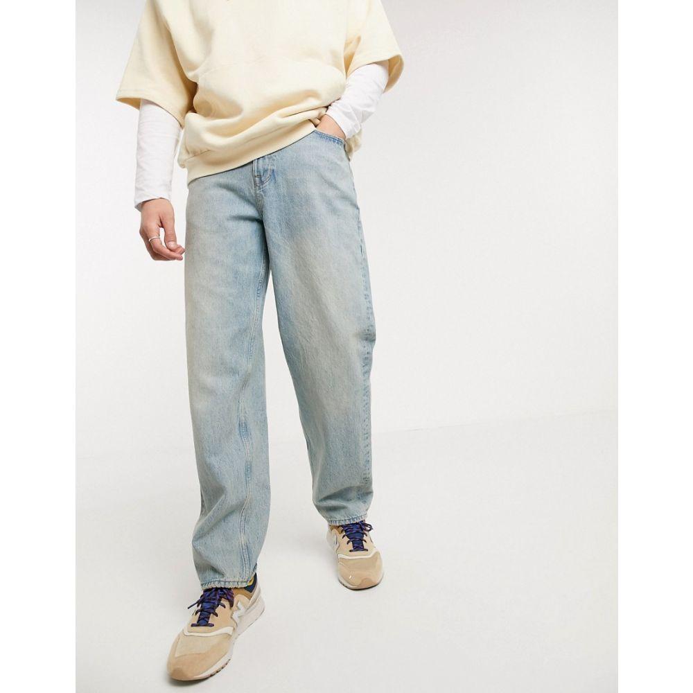 エイソス ASOS DESIGN メンズ ジーンズ・デニム ボトムス・パンツ【baggy jeans in vintage blue wash with tint】Light wash blue