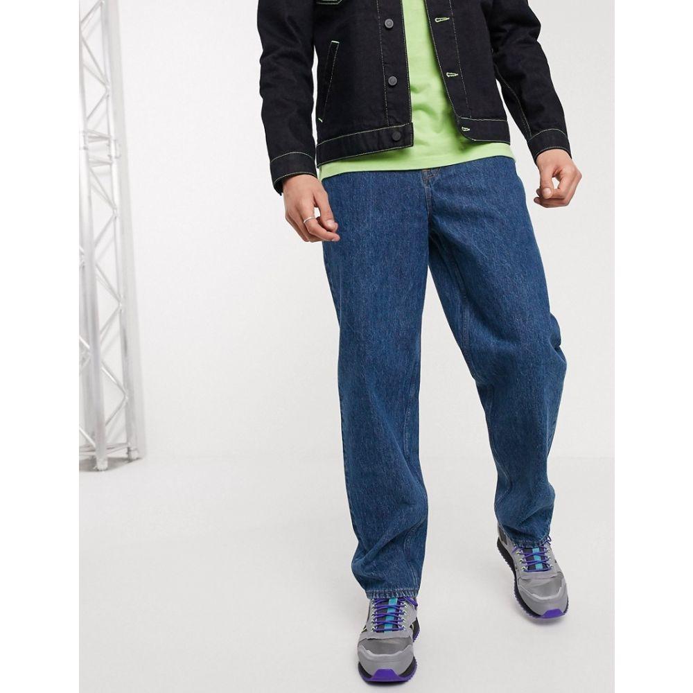 エイソス ASOS DESIGN メンズ ジーンズ・デニム ボトムス・パンツ【baggy jeans in mid wash blue】Mid wash blue