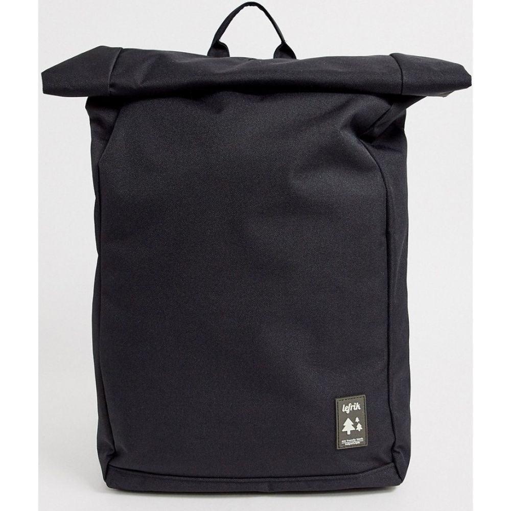 レフリク Lefrik メンズ バックパック・リュック バッグ【Roll recycled backpack in black】Black