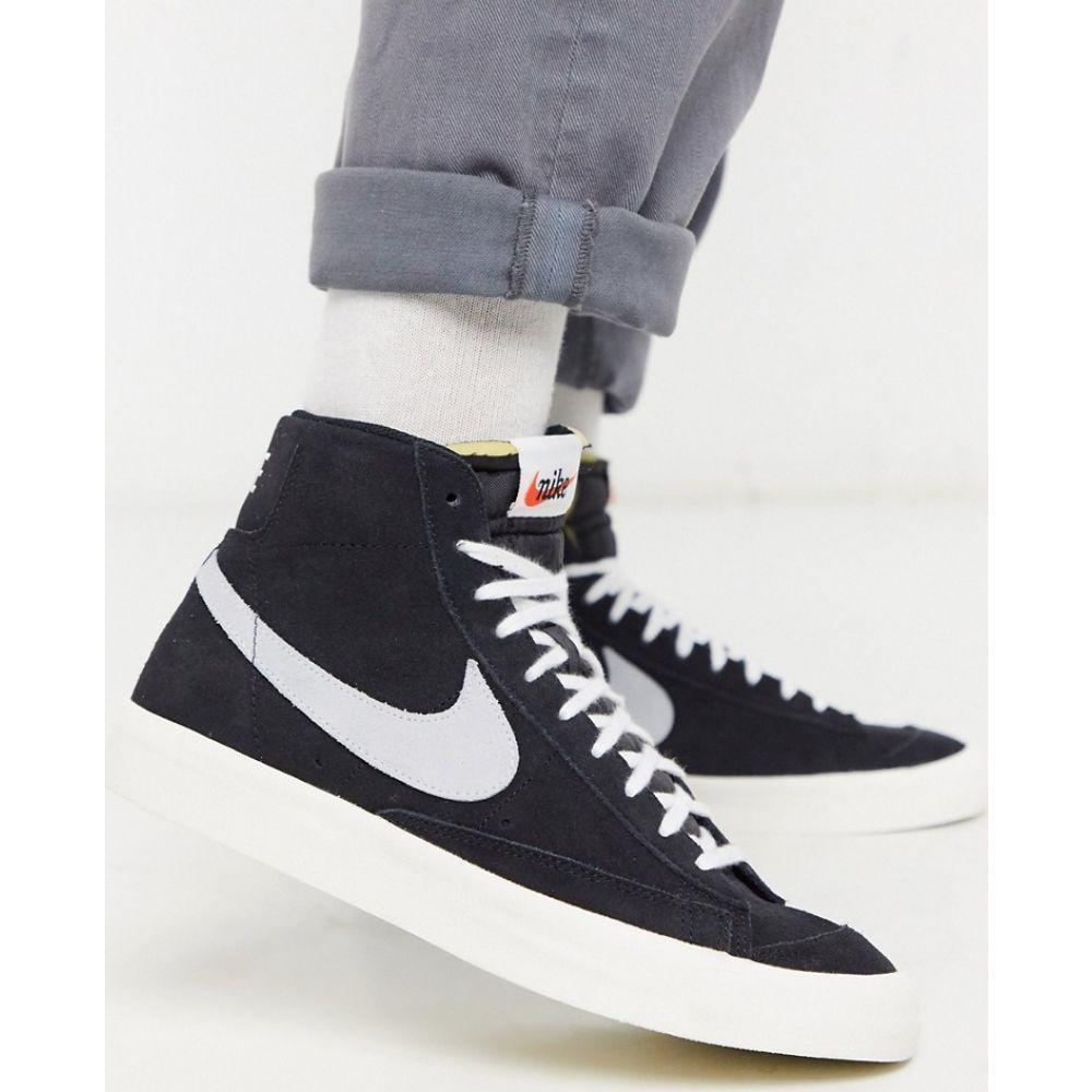 ナイキ Nike メンズ スニーカー シューズ・靴【Blazer Mid '77 suede trainers in black】Black