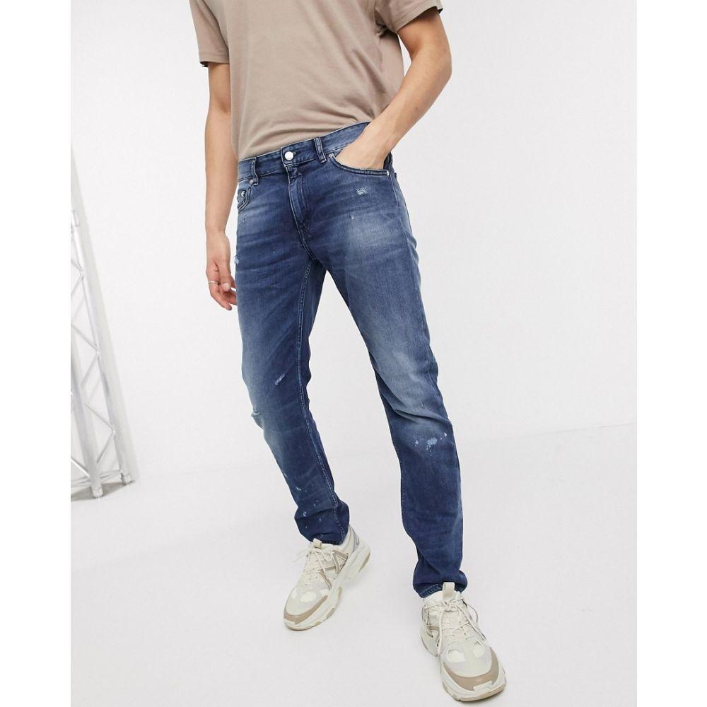 モスキーノ Love Moschino メンズ ジーンズ・デニム ボトムス・パンツ【distressed slim jeans】Blue