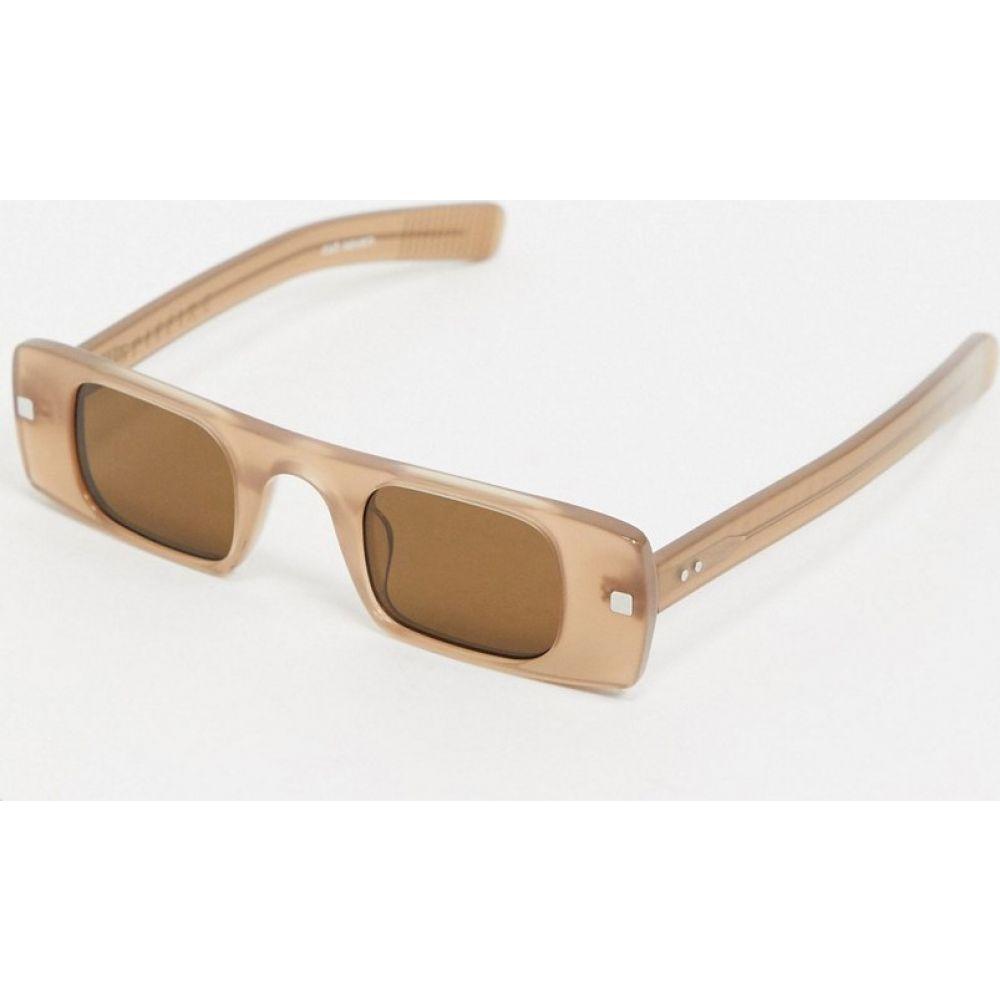 スピットファイア Spitfire メンズ メガネ・サングラス スクエアフレーム【Cut Seven slim square sunglasses in nude】Nude