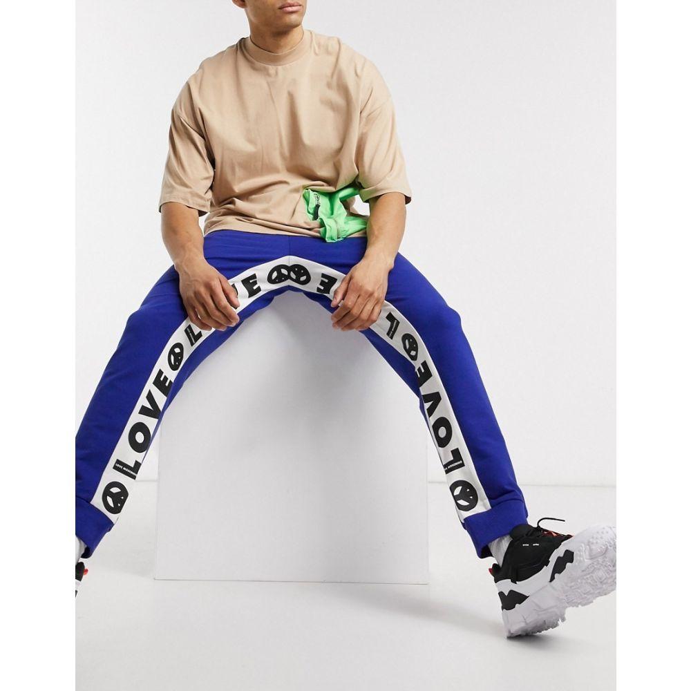 モスキーノ Love Moschino メンズ ジョガーパンツ ボトムス・パンツ【print cuffed joggers】Blue