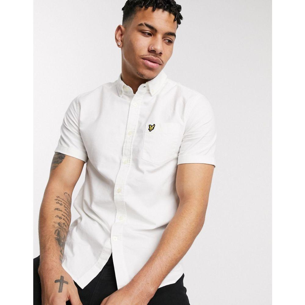 ライル アンド スコット Lyle & Scott メンズ 半袖シャツ トップス【short sleeve oxford shirt in white】White