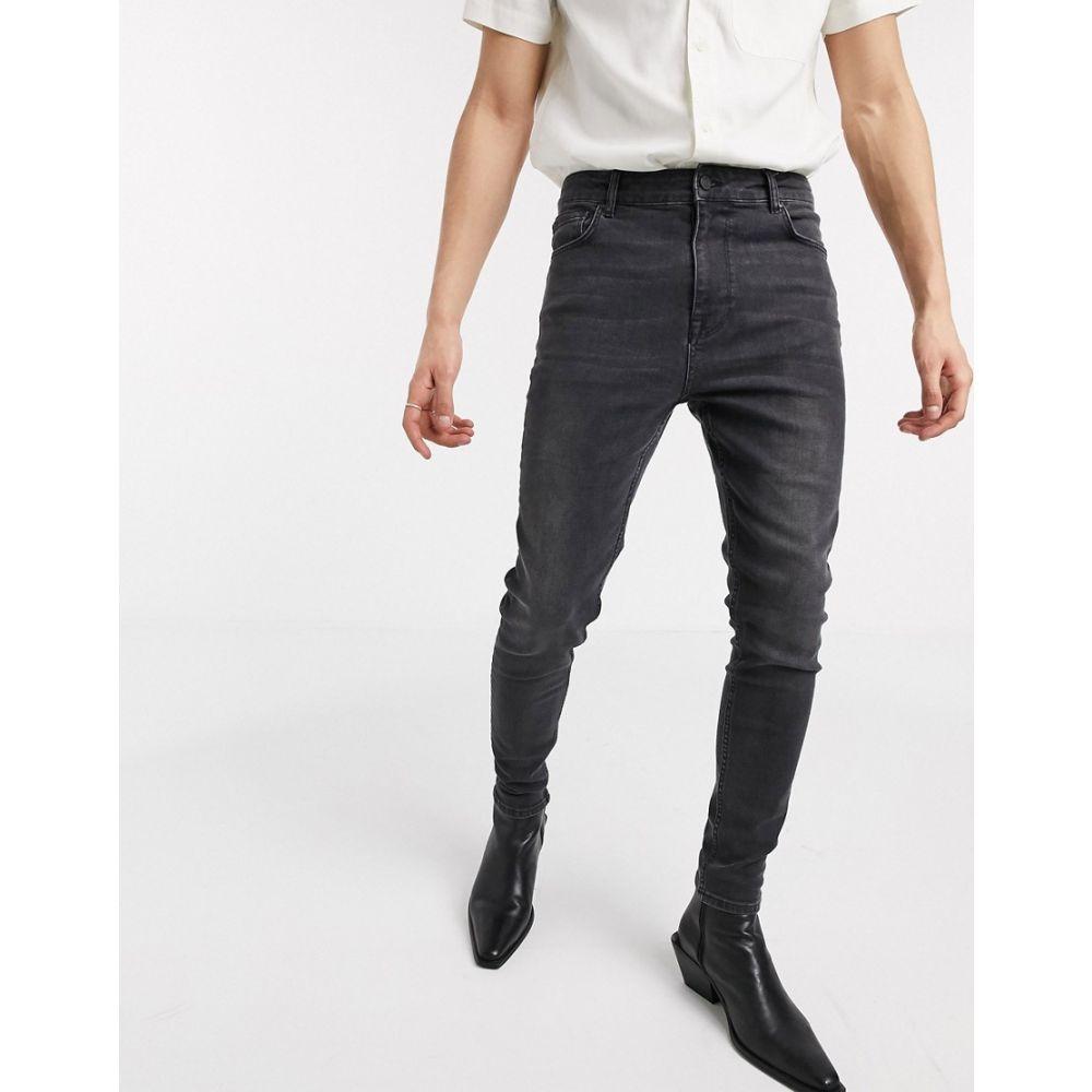 エイソス ASOS DESIGN メンズ ジーンズ・デニム ボトムス・パンツ【high waisted skinny jean in washed black】Washed black
