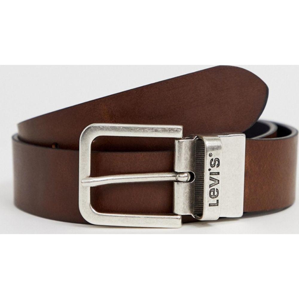 リーバイス Levi's メンズ ベルト 【reversible core leather belt in black/brown】Black