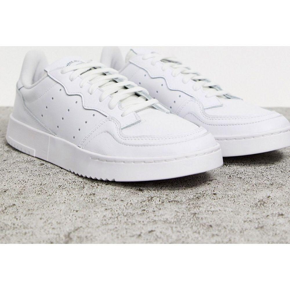 アディダス adidas Originals メンズ スニーカー シューズ・靴【Supercourt trainers in white】White