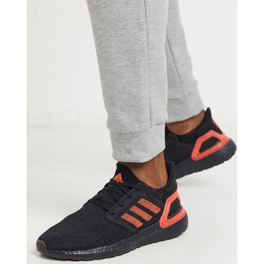 アディダス adidas performance メンズ スニーカー シューズ・靴【adidas Ultraboost 20 trainers in black with red detail】Black