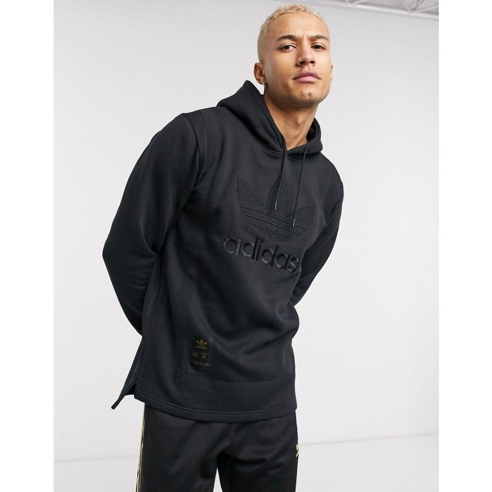 アディダス adidas Originals メンズ パーカー トップス【superstar warm up hoodie in black】Black