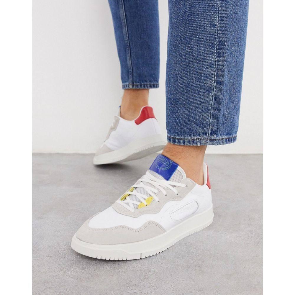 アディダス adidas Originals メンズ スニーカー シューズ・靴【SC premier trainers in white and red】Wh - white