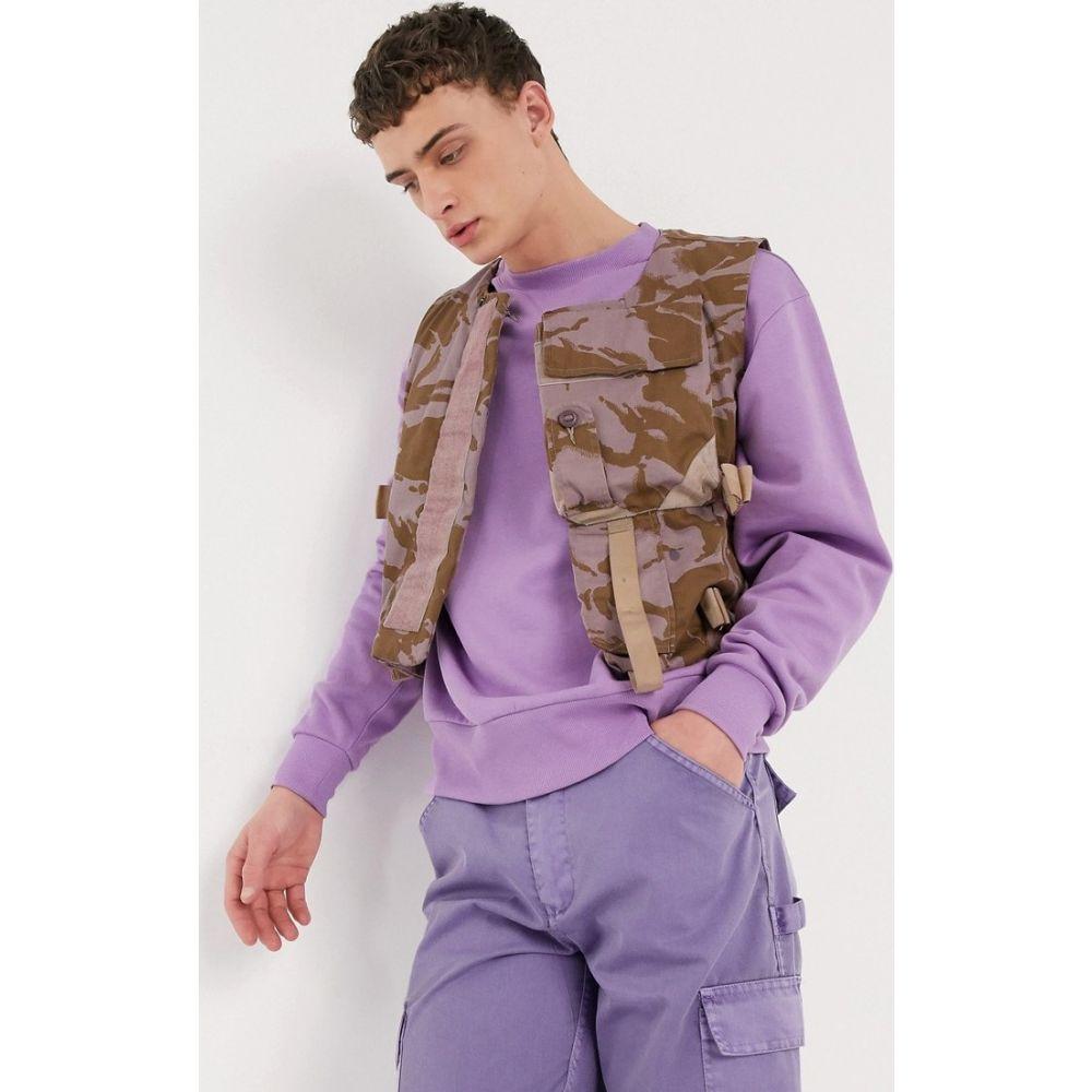 ミルクイット Milk It メンズ ベスト・ジレ トップス【Vintage camo utility vest in purple】Purple