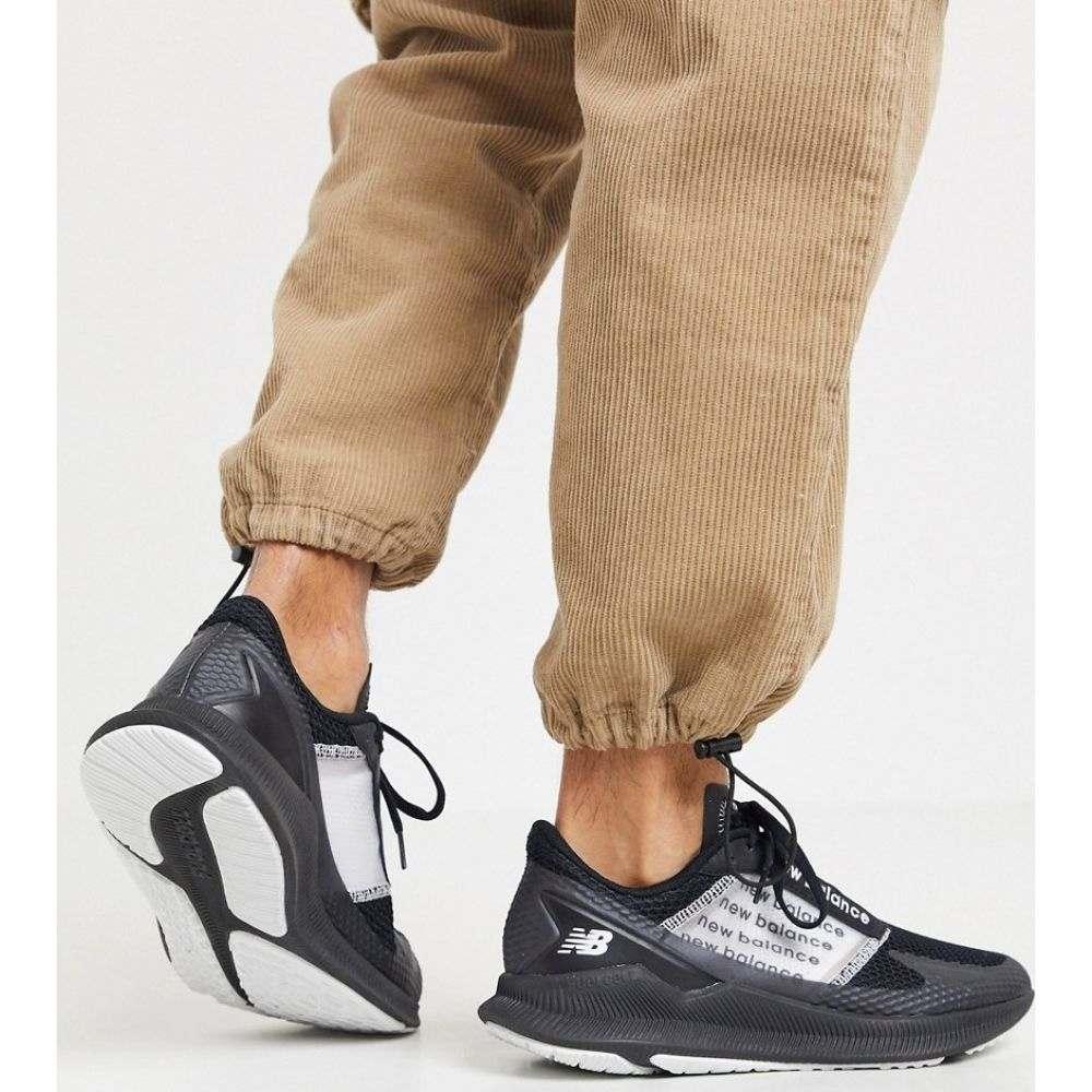 ニューバランス New Balance メンズ ランニング・ウォーキング シューズ・靴【Running Fuelcell Elite trainers in black】Black