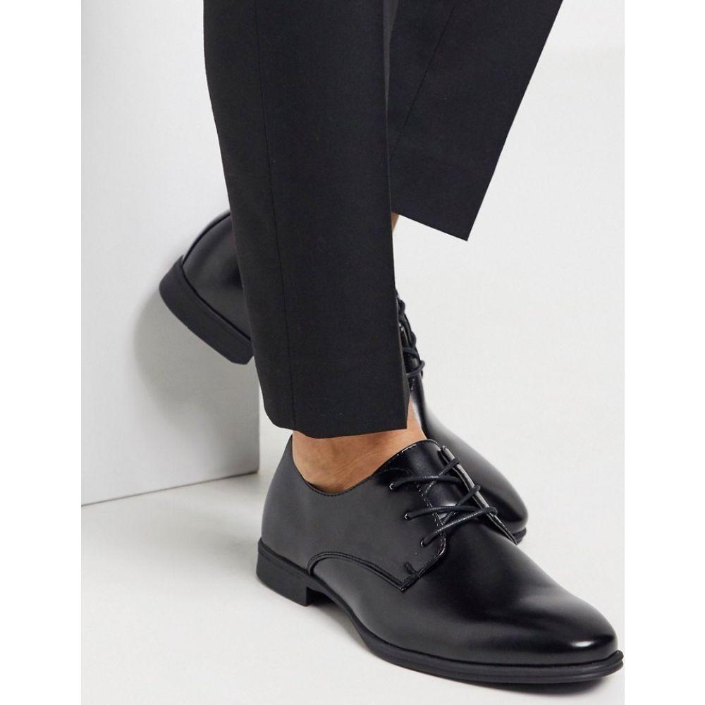 ニュールック New Look メンズ 革靴・ビジネスシューズ シューズ・靴【smart oxford shoe in black】Black
