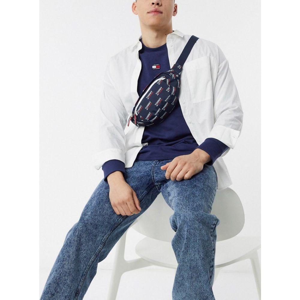 トミー ジーンズ Tommy Jeans メンズ ボディバッグ・ウエストポーチ バッグ【all over print logo bumbag in blue】Blue print