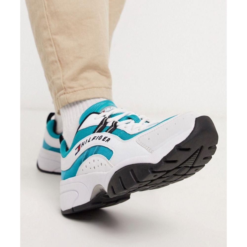 トミー ジーンズ Tommy Jeans メンズ ランニング・ウォーキング シューズ・靴【heritage runner in blue】Exotic teal