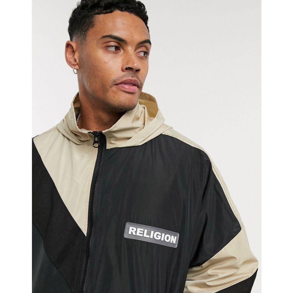 レリジョン Religion メンズ ジャケット フード アウター【oversized lightweight hooded jacket in black】Black