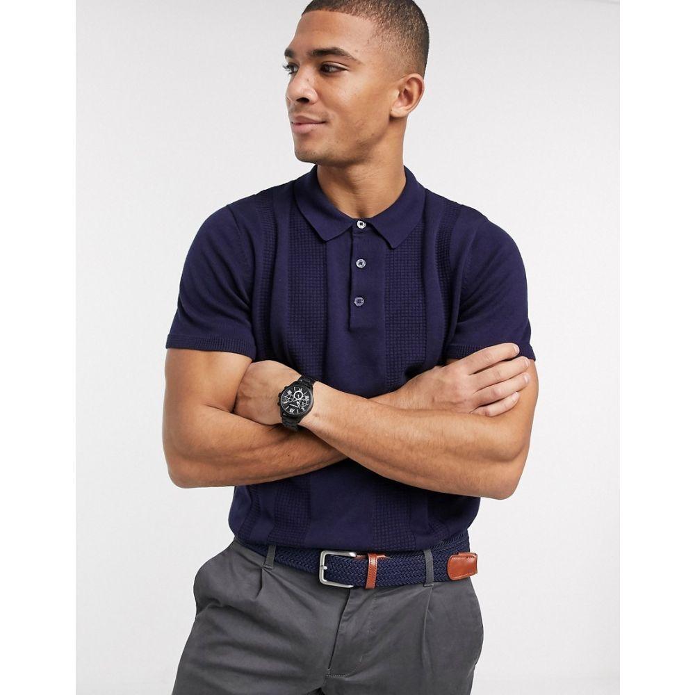 ベンシャーマン Ben Sherman メンズ ポロシャツ トップス【textured polo shirt】Navy
