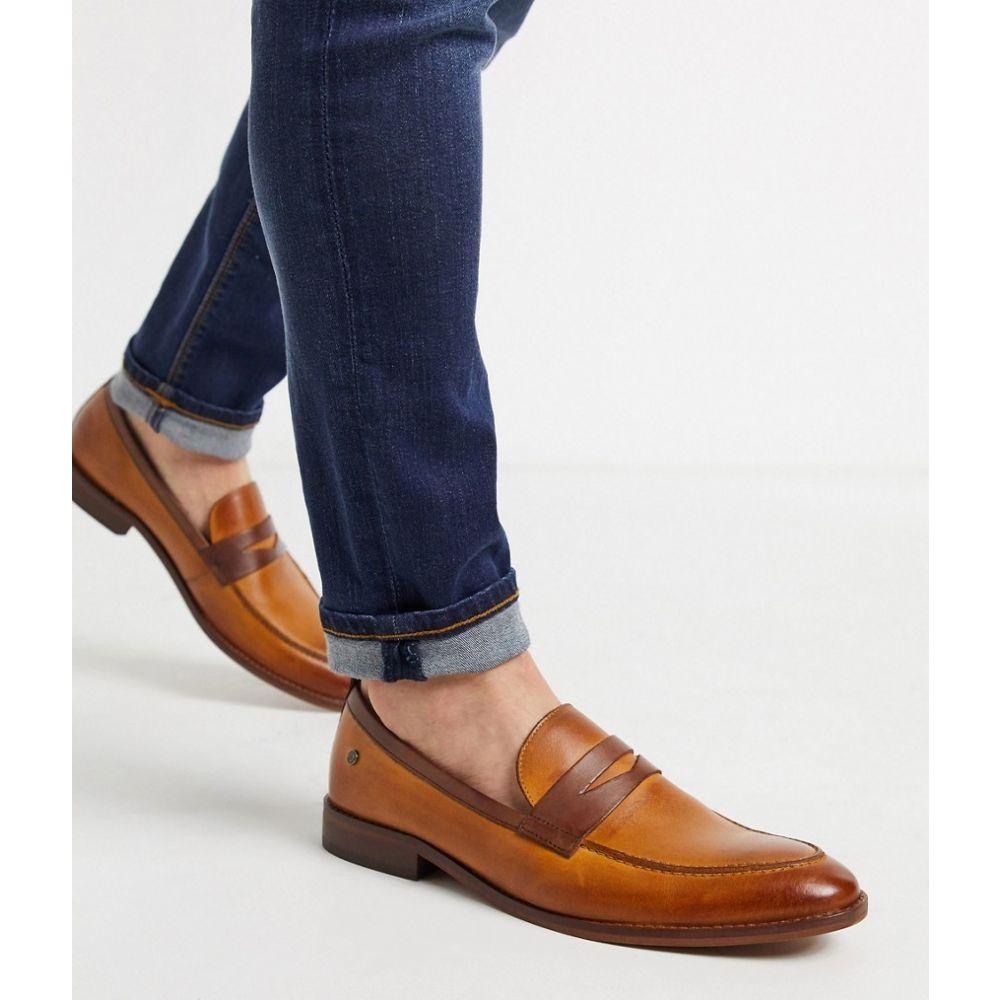 ベース ロンドン Base London メンズ ローファー シューズ・靴【Base london lense penny loafers tan leather】Tan
