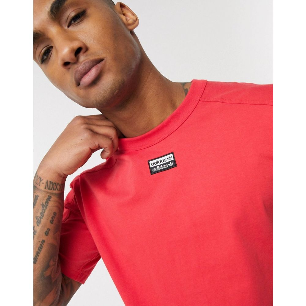 アディダス adidas Originals メンズ Tシャツ トップス【RYV t-shirt with central logo in red】Red