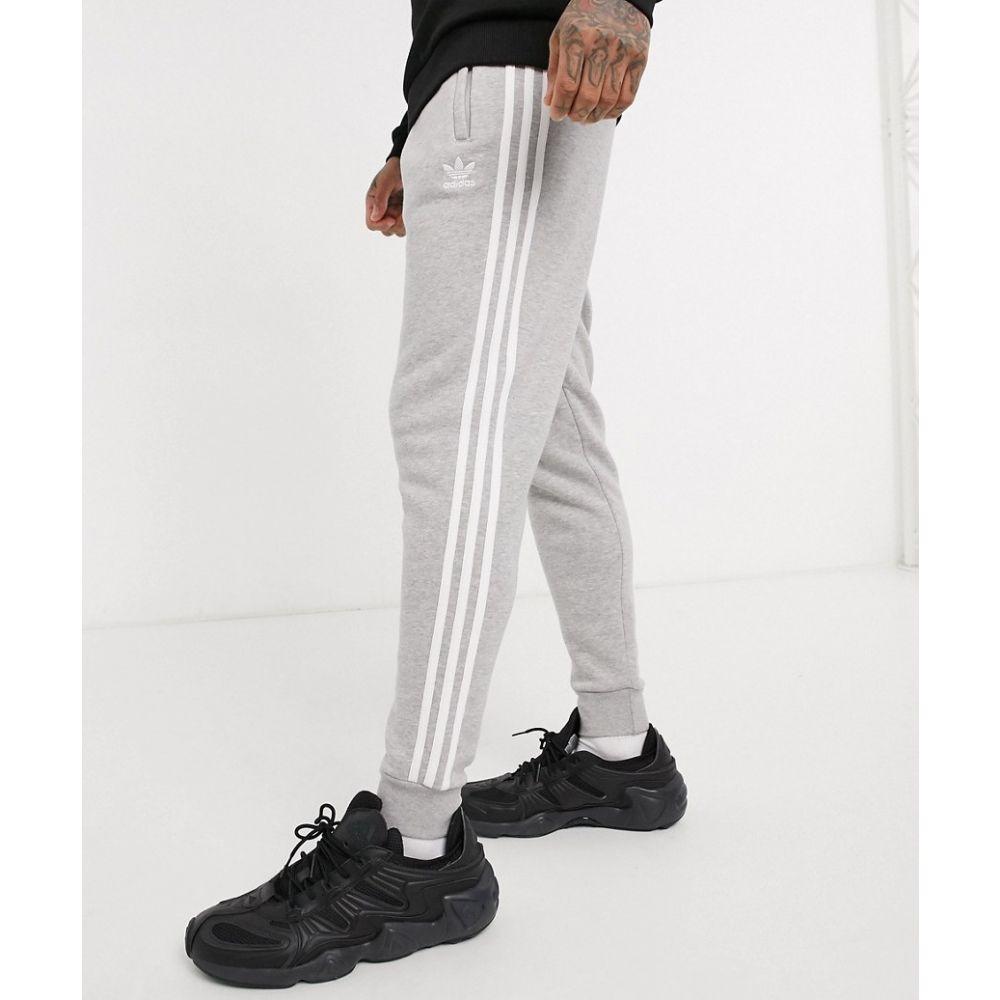 アディダス adidas Originals メンズ ジョガーパンツ ボトムス・パンツ【joggers in grey with 3 stripes】Gy - grey