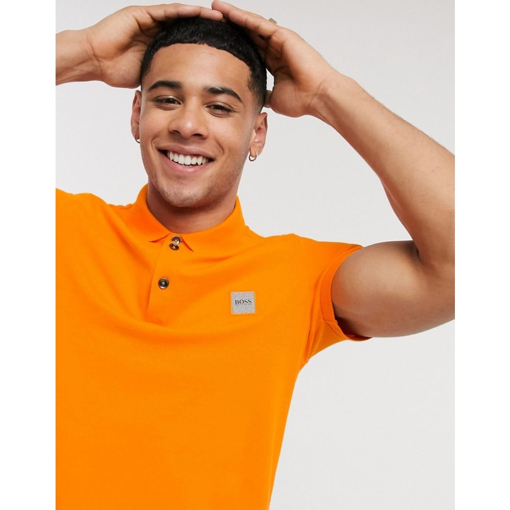 ヒューゴ ボス BOSS メンズ ポロシャツ トップス【Passenger slim fit logo polo in orange】Orange