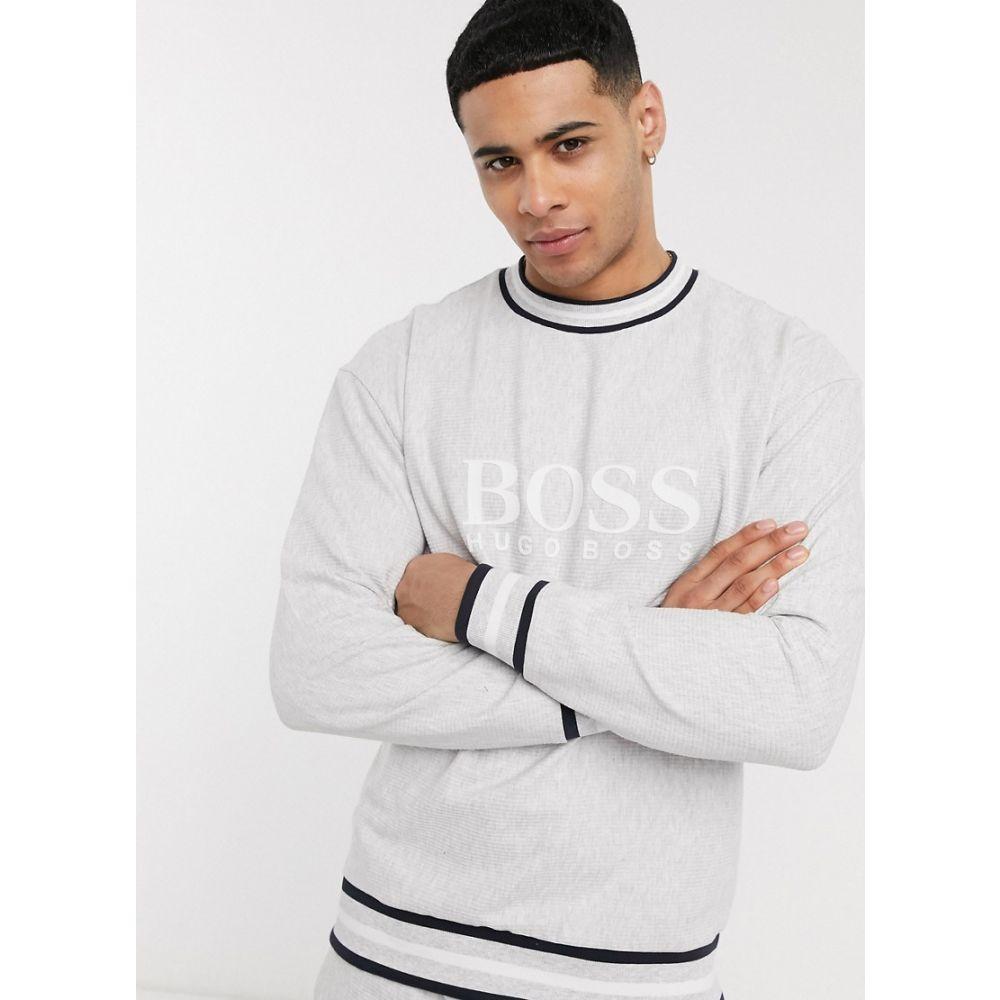 ヒューゴ ボス BOSS メンズ スウェット・トレーナー トップス【bodywear Heritage logo sweatshirt in grey co-ord】Grey