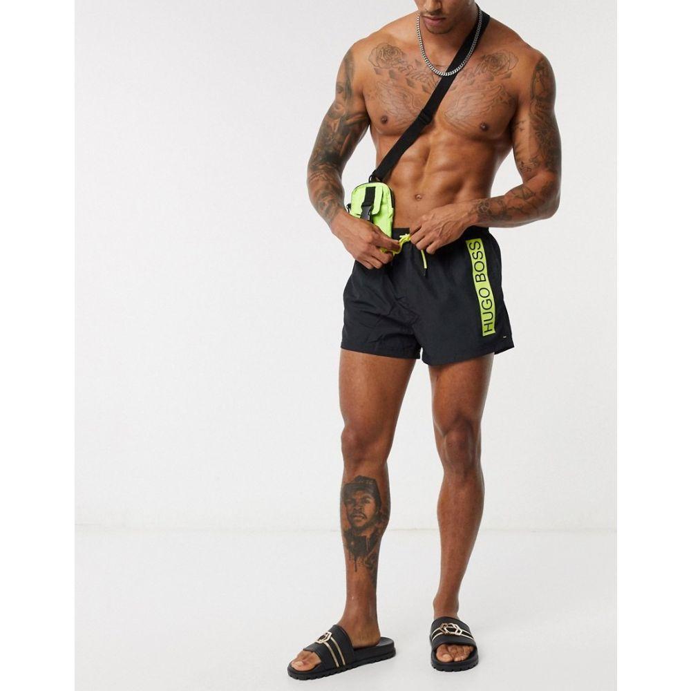 ヒューゴ ボス BOSS メンズ 海パン ショートパンツ 水着・ビーチウェア【Mooneye logo short length swim shorts in black】Black