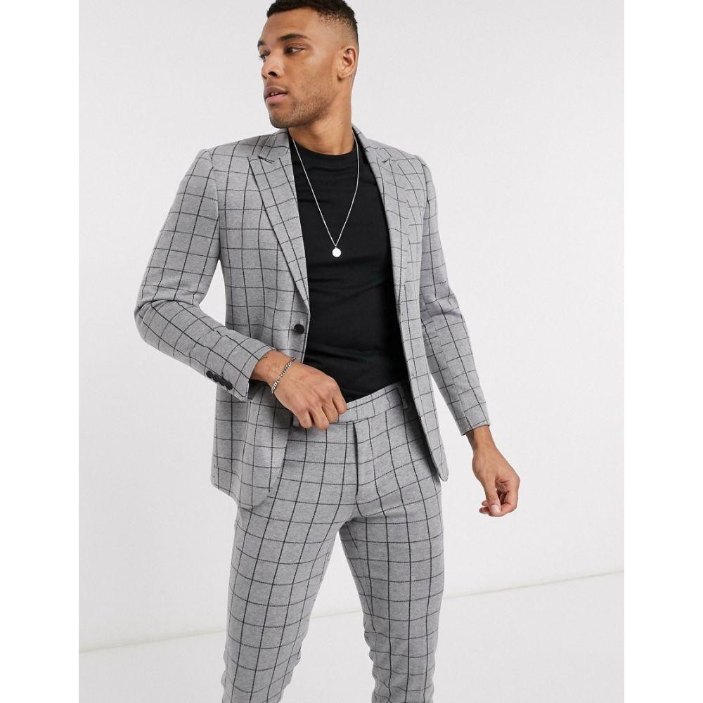 オンリーアンドサンズ Only & Sons メンズ スーツ・ジャケット アウター【check stretch suit jacket in grey】Light grey melange