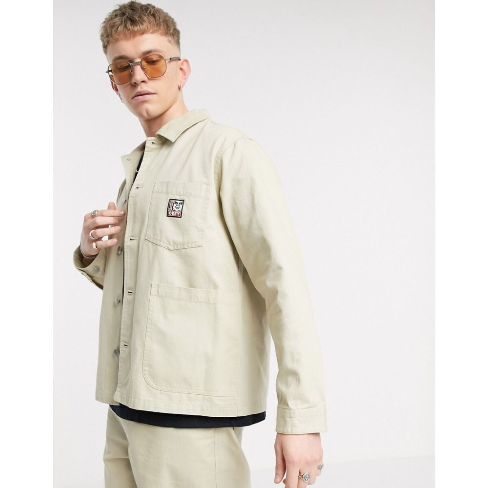 オベイ Obey メンズ ジャケット アウター【Pebble chore jacket in stone】Natural
