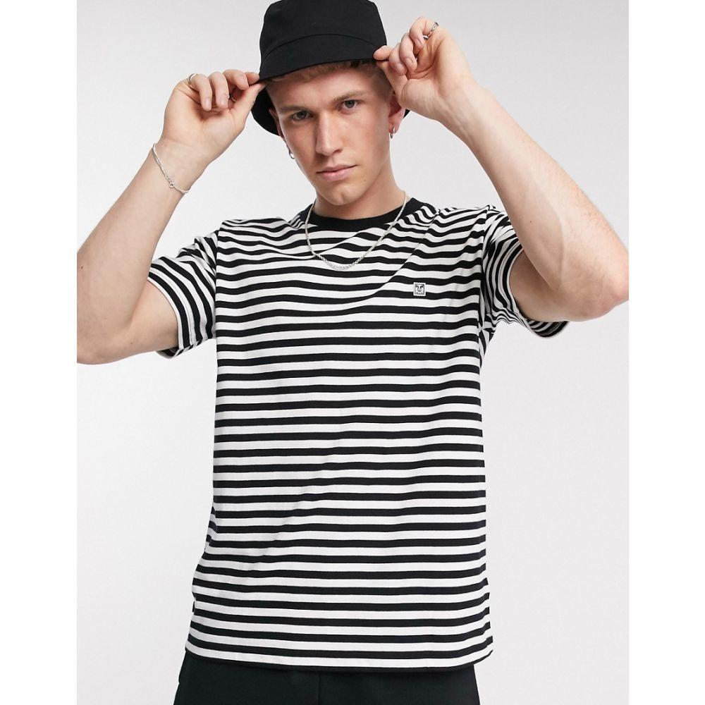 オベイ Obey メンズ Tシャツ トップス【89 Icon striped t-shirt in black/white】Black multi