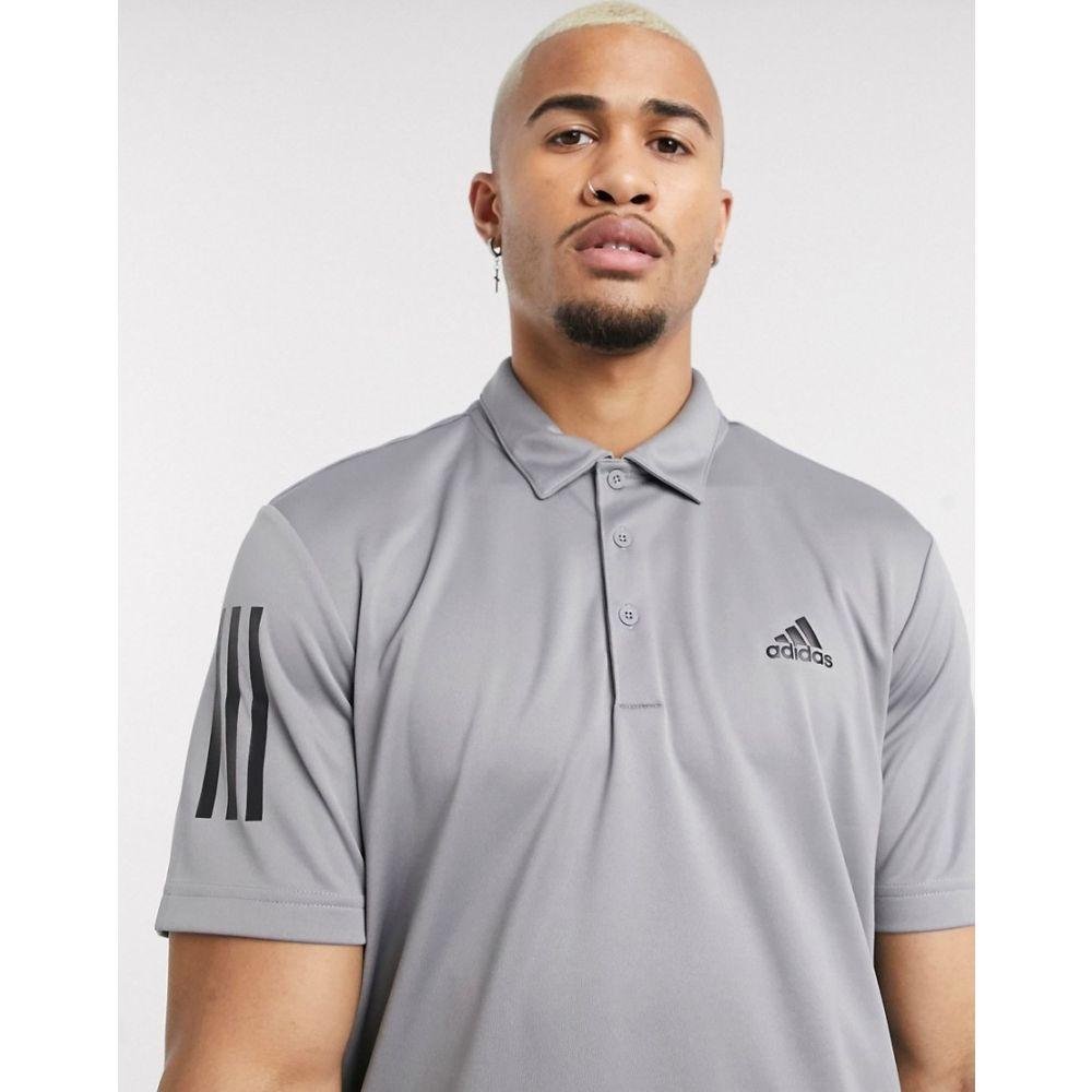アディダス adidas Golf メンズ ポロシャツ トップス【adidas golf 3 stripe polo shirt in grey】Grey
