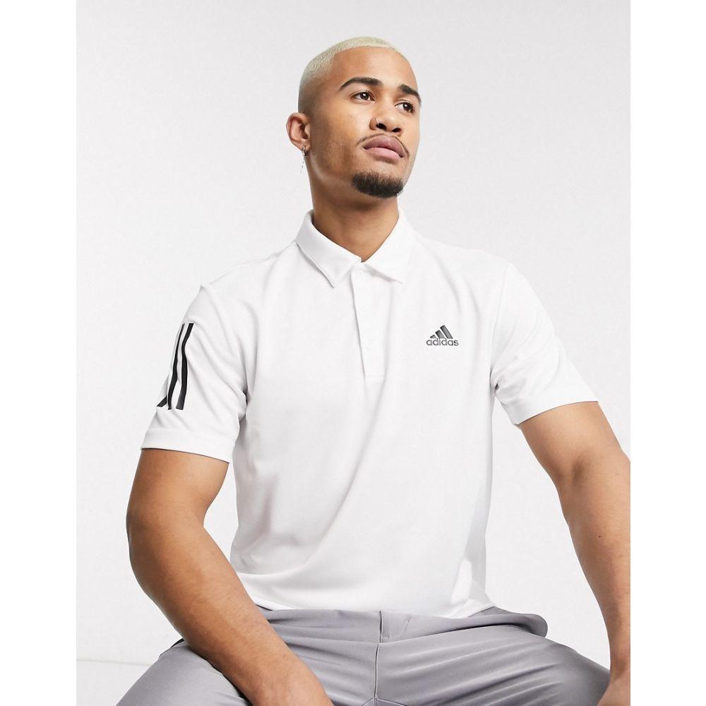 アディダス adidas Golf メンズ ポロシャツ トップス【adidas golf 3 stripe polo shirt in white】White