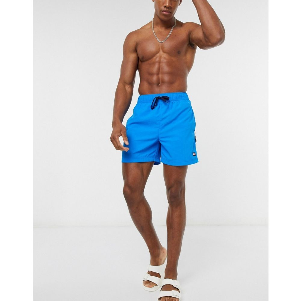 トミー ヒルフィガー Tommy Hilfiger メンズ 海パン ショートパンツ 水着・ビーチウェア【medium drawstring swim shorts】Blue