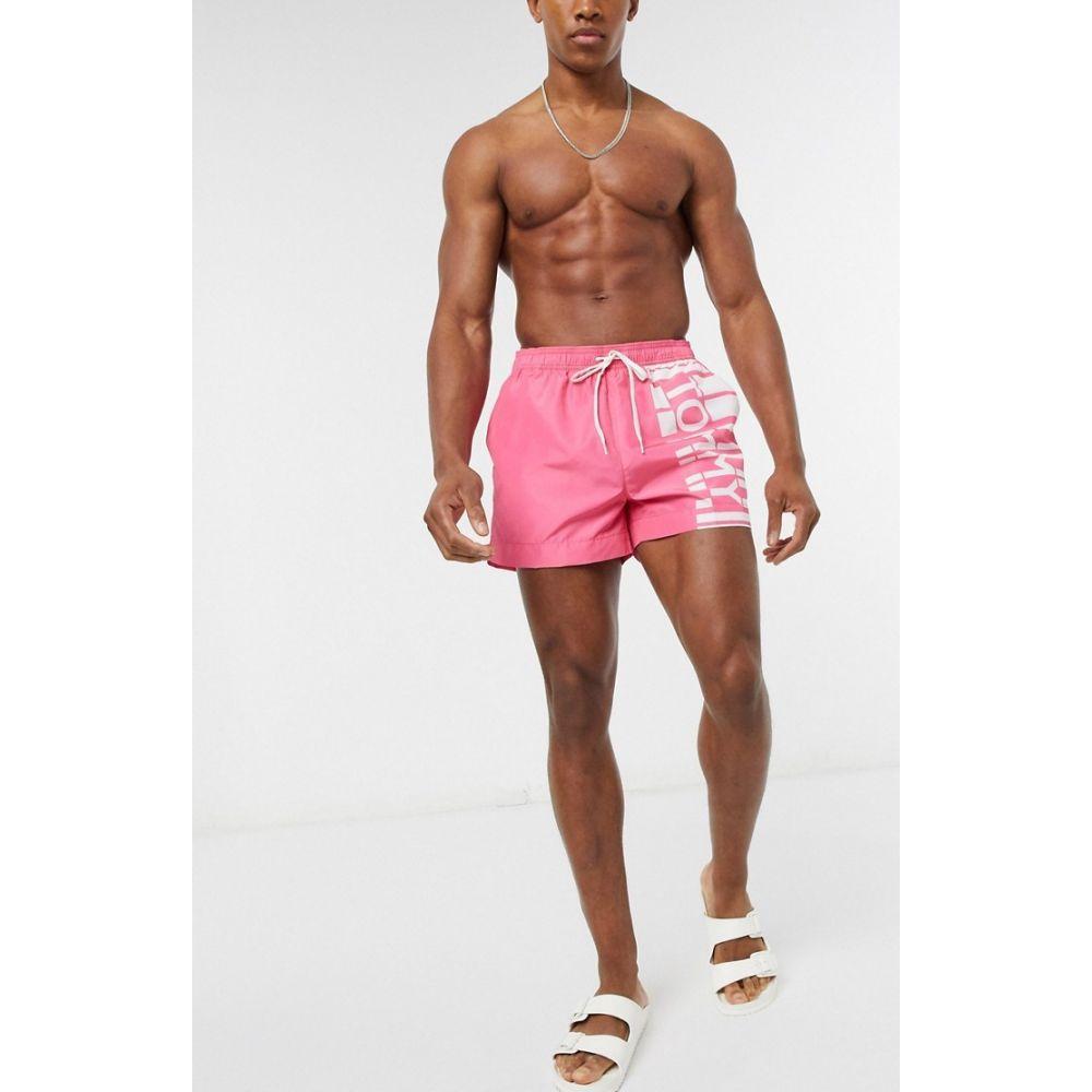トミー ヒルフィガー Tommy Hilfiger メンズ 海パン ショートパンツ 水着・ビーチウェア【short drawstring swim shorts】Pink