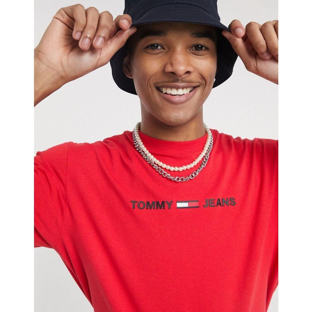 トミー ジーンズ Tommy Jeans メンズ Tシャツ トップス【chest small logo t-shirt in red】Deep crimson