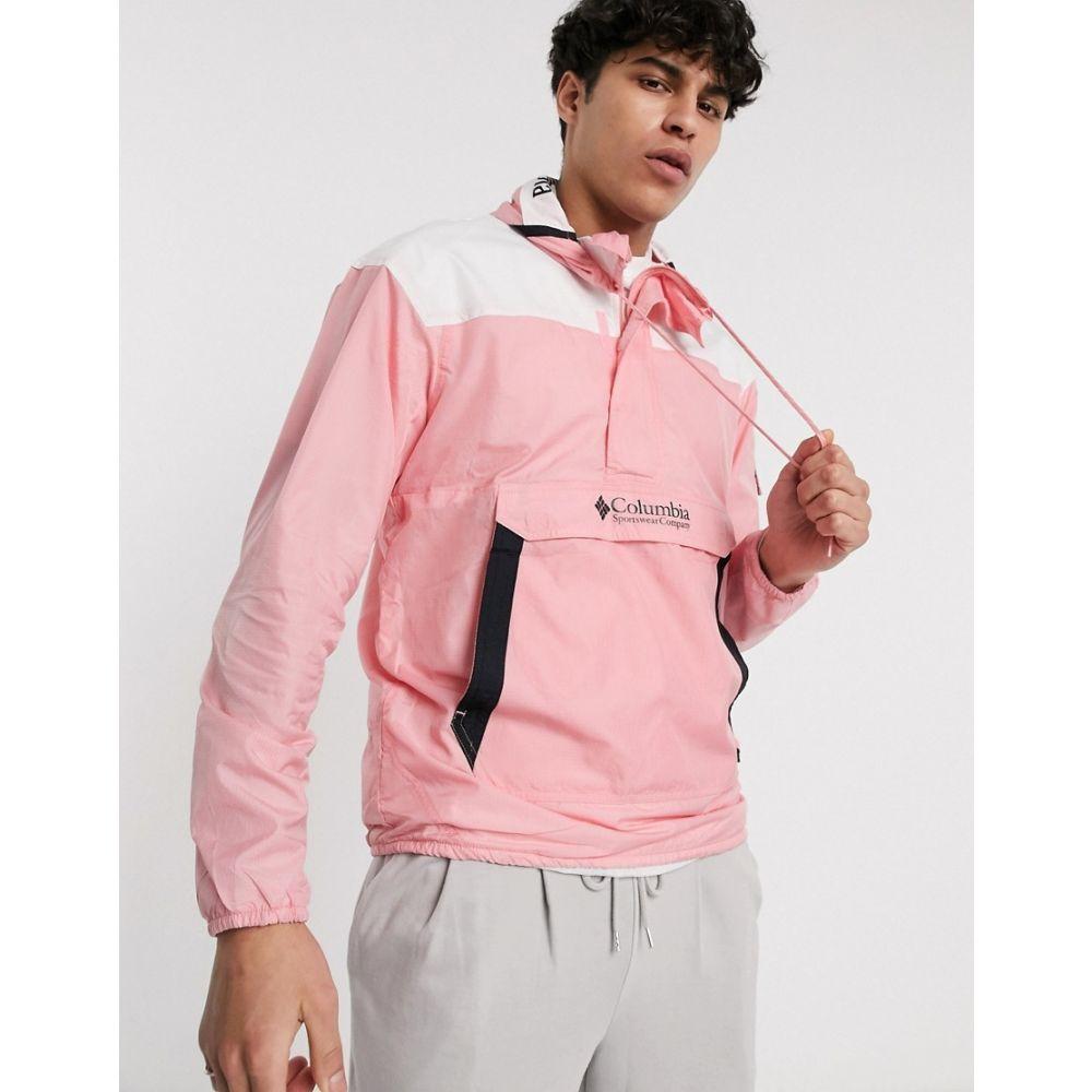 コロンビア Columbia メンズ ジャケット ウィンドブレーカー アウター【Hood River Challenger Windbreaker in pink】Rosewater white