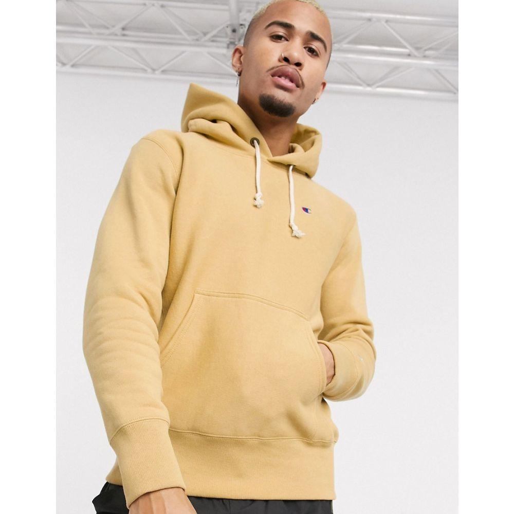 チャンピオン Champion メンズ パーカー トップス【Reverse Weave pullover small logo hoodie in tan】Caramel crml