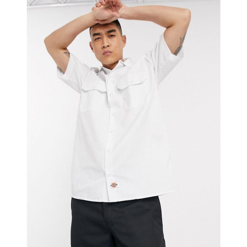 ディッキーズ Dickies メンズ 半袖シャツ トップス【short sleeve work shirt in white】White