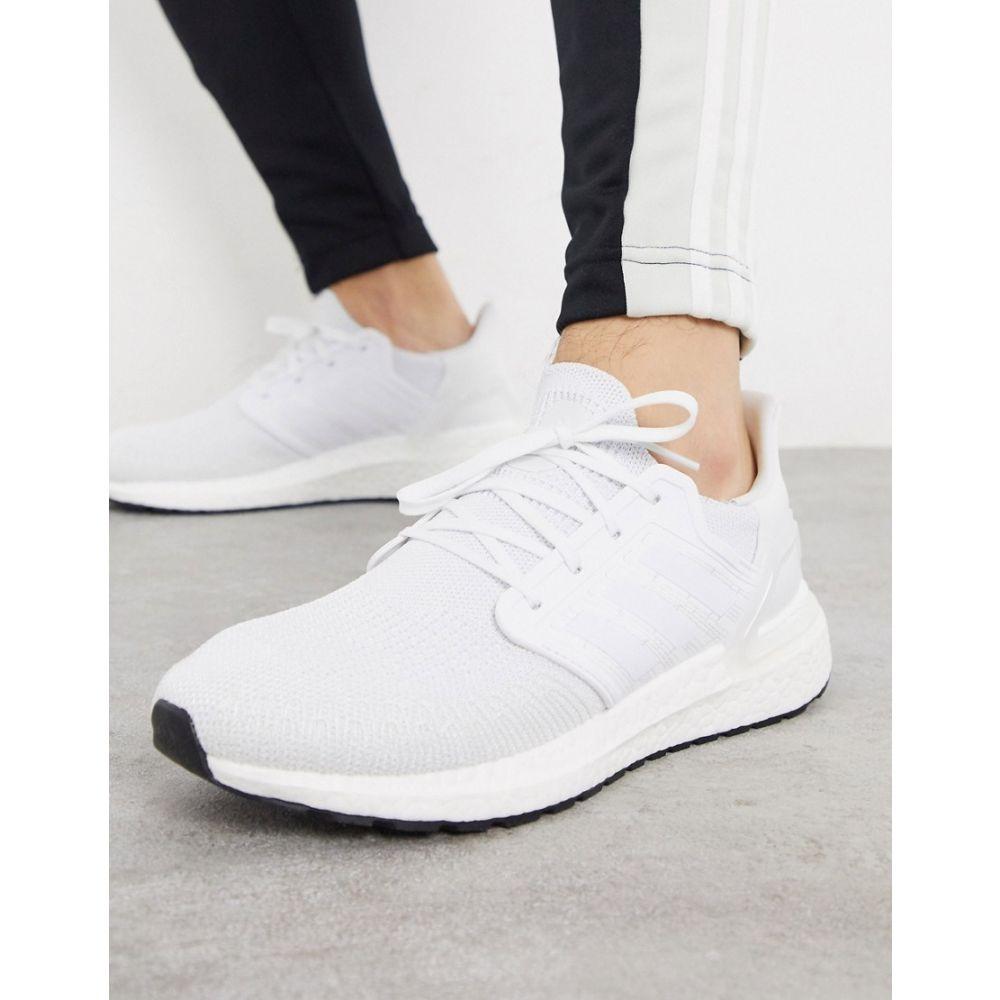 アディダス adidas performance メンズ ランニング・ウォーキング シューズ・靴【adidas Running Ultraboost 20 trainers in white】White