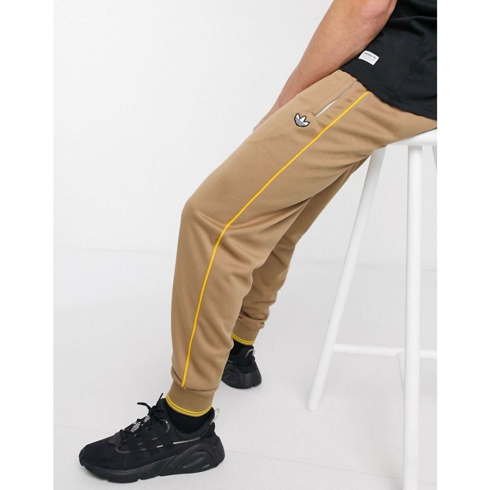 アディダス adidas Originals メンズ ジョガーパンツ ボトムス・パンツ【premium Samstag joggers with 3 stripes in brown】Br - brown