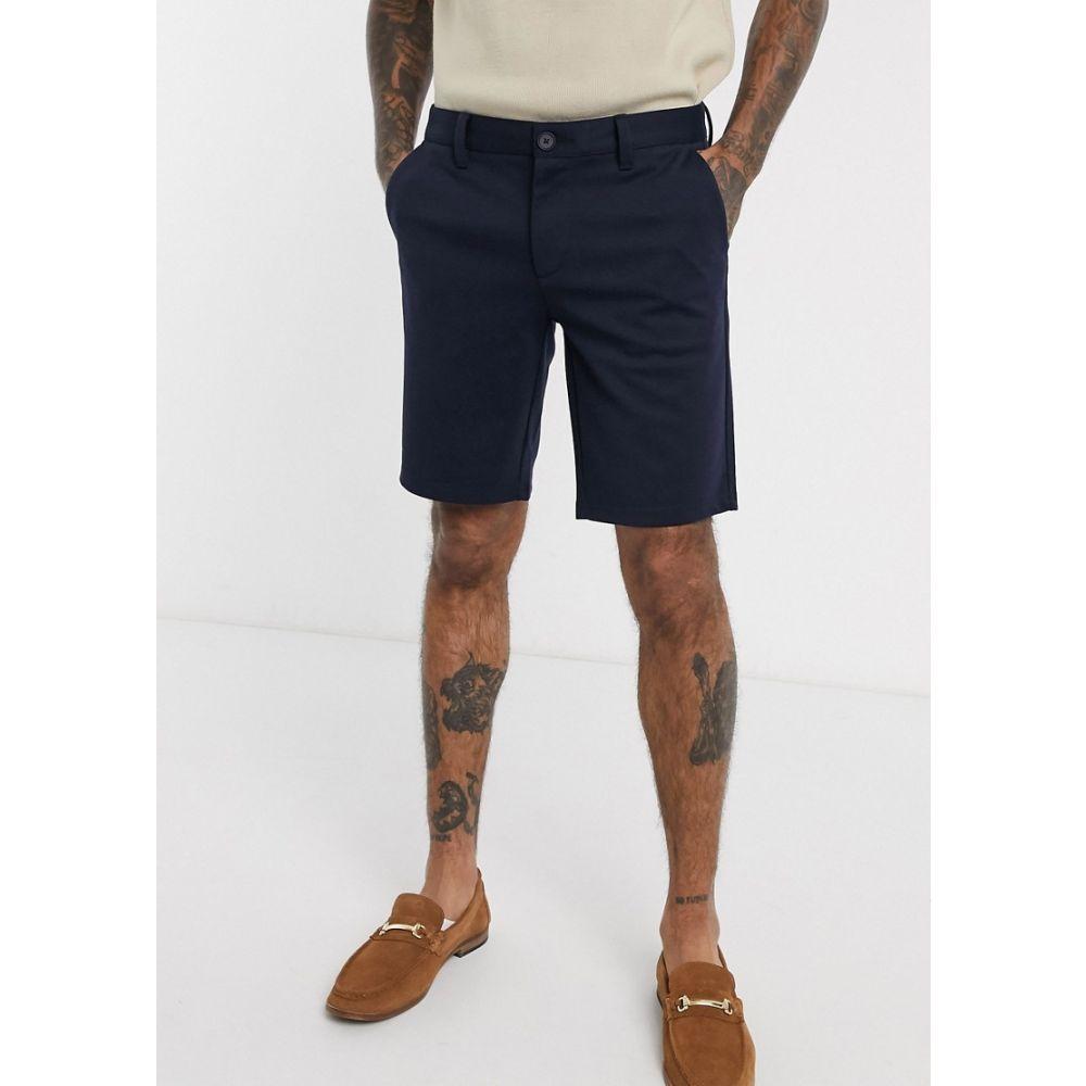 オンリーアンドサンズ Only & Sons メンズ ショートパンツ ボトムス・パンツ【slim fit smart shorts in navy】Night sky