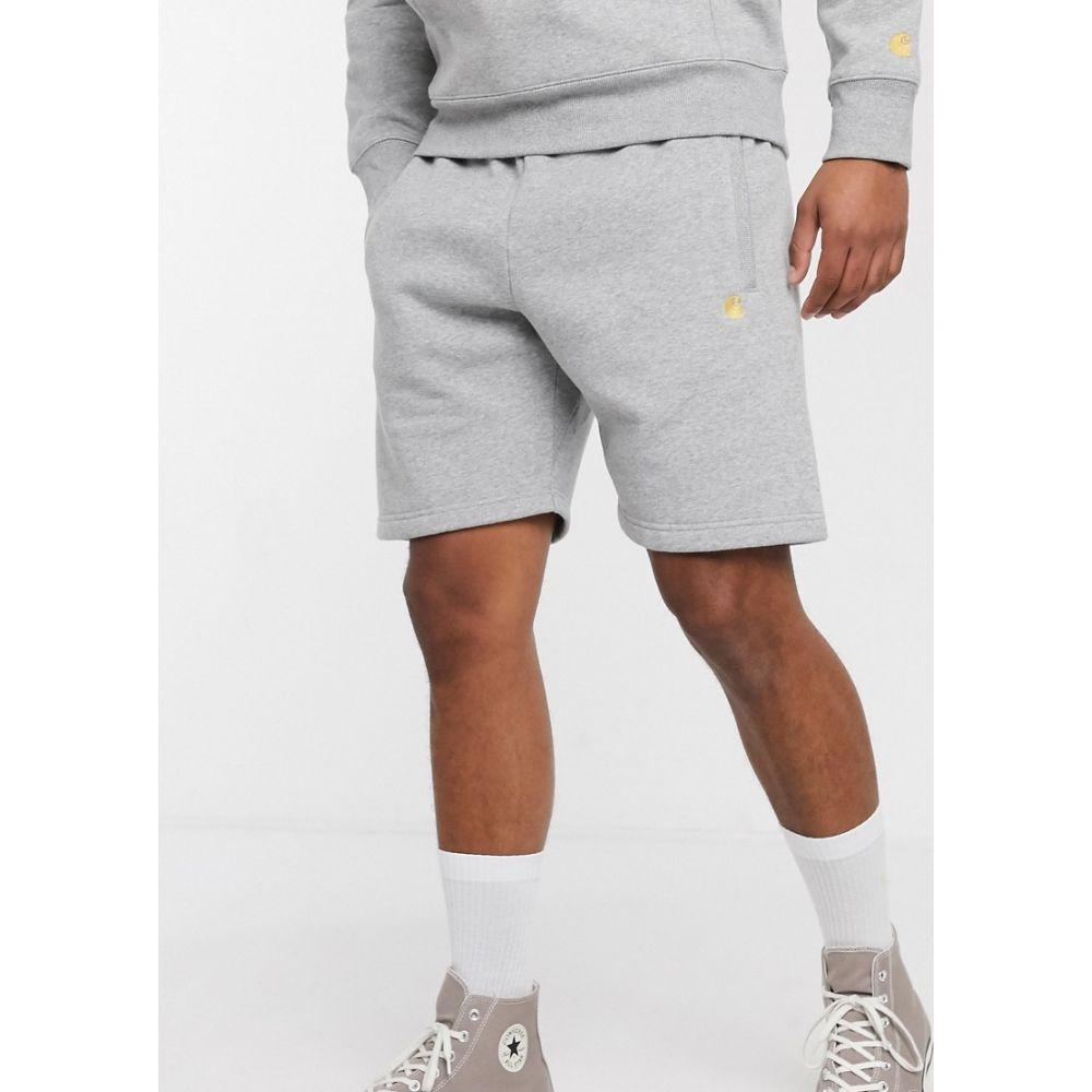 カーハート Carhartt WIP メンズ ショートパンツ ボトムス・パンツ【Carhart WIP Chase sweat short in grey】Grey heather/gold