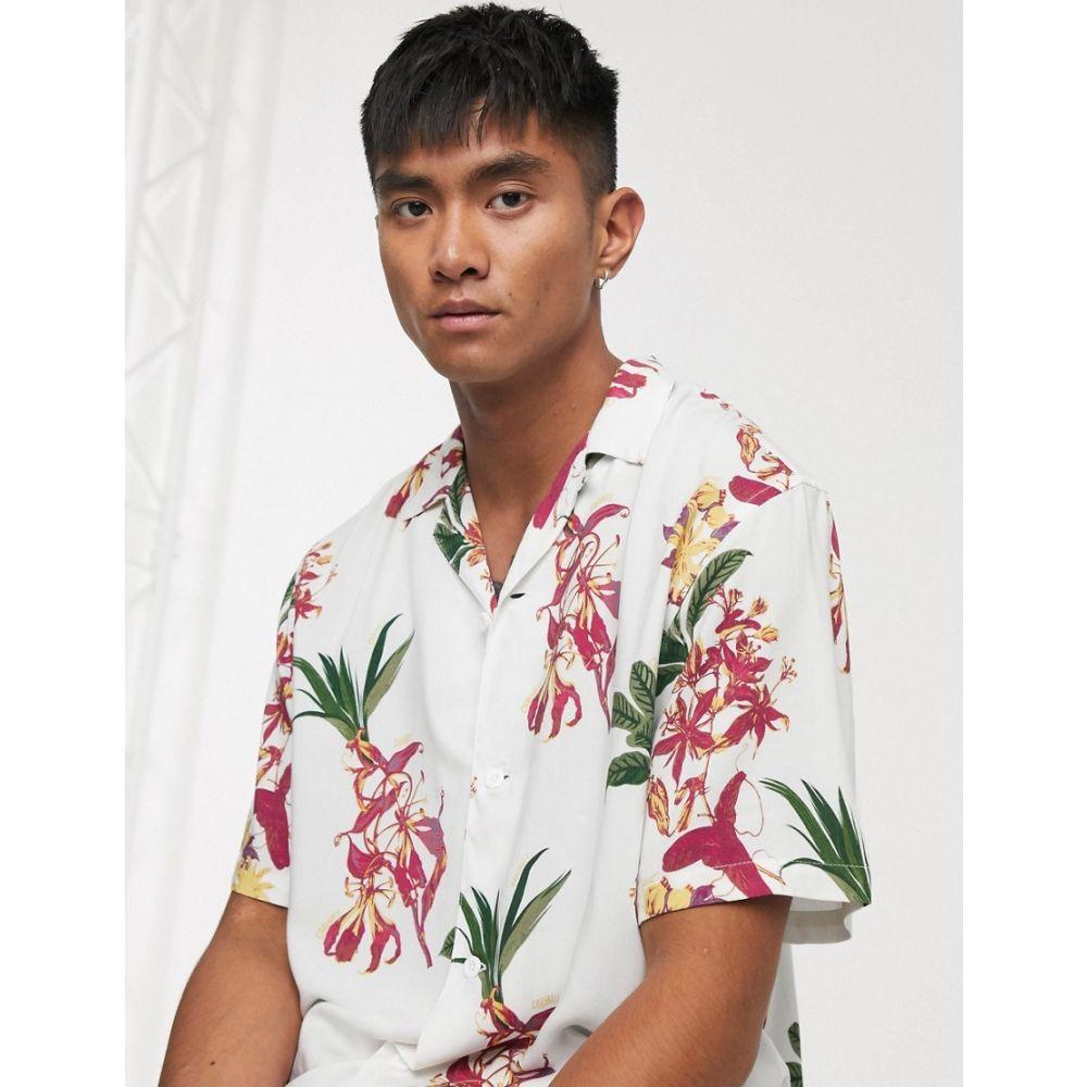 カーハート Carhartt WIP メンズ シャツ アロハシャツ トップス【Hawaiian floral shirt in white】Hawaiian floral/whit