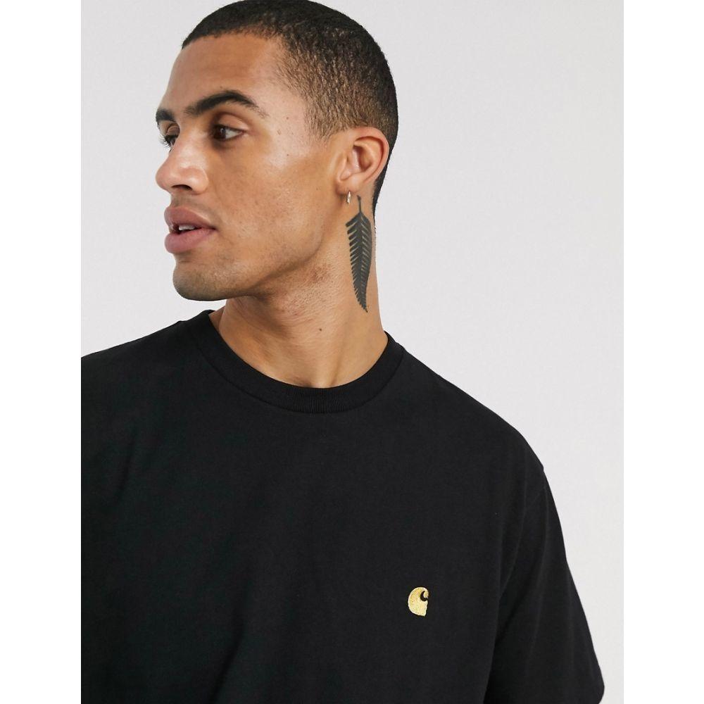 カーハート Carhartt WIP メンズ Tシャツ トップス【Chase t-shirt in black】Black/gold