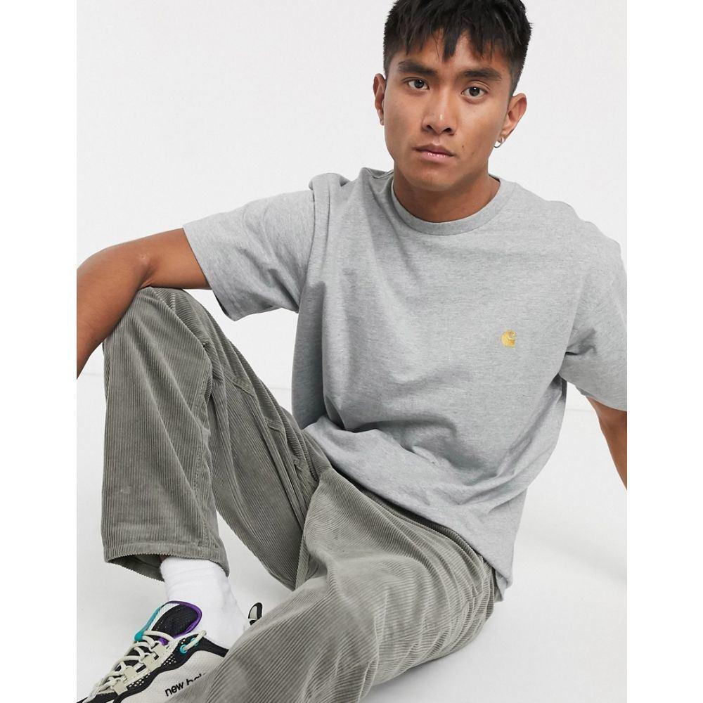 カーハート Carhartt WIP メンズ Tシャツ トップス【Chase t-shirt in grey】Grey heather/gold
