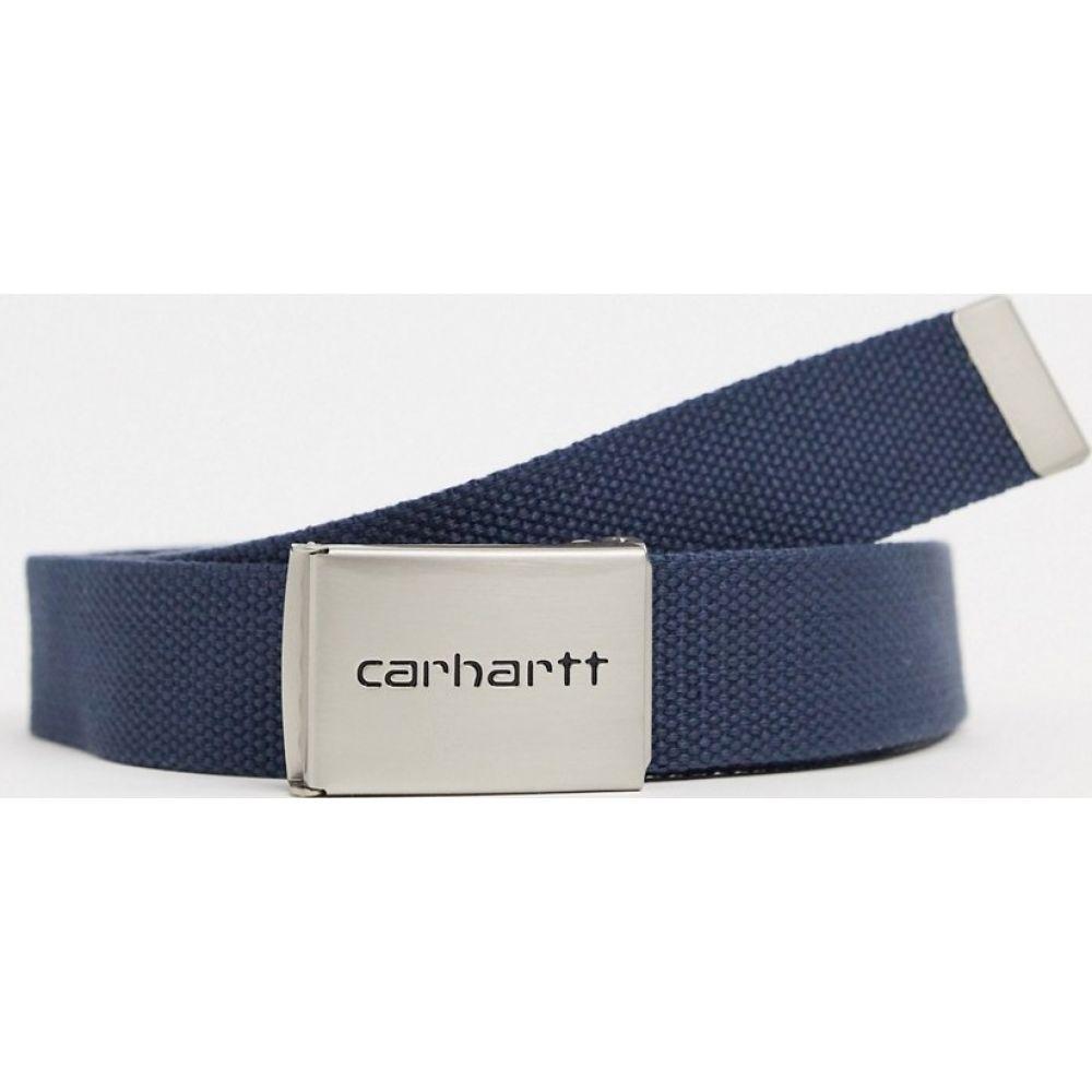 カーハート Carhartt WIP メンズ ベルト 【Chrome Clip belt in blue】Blue