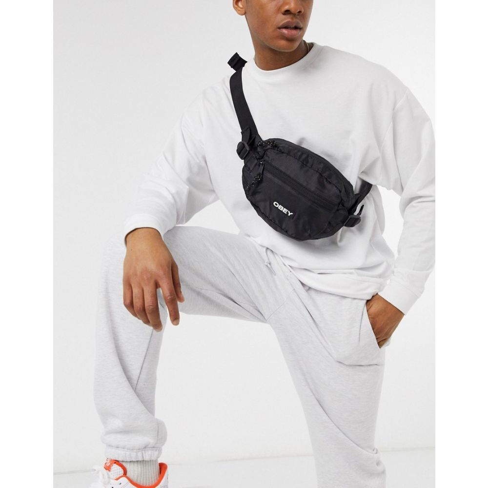 オベイ Obey メンズ ボディバッグ・ウエストポーチ バッグ【Commuter waist bag in black】Black